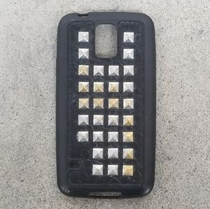 Accessories - Studded Leather Phone Case Samsung Galaxy S5